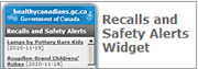 Add the Recall and Safety Alerts Widget