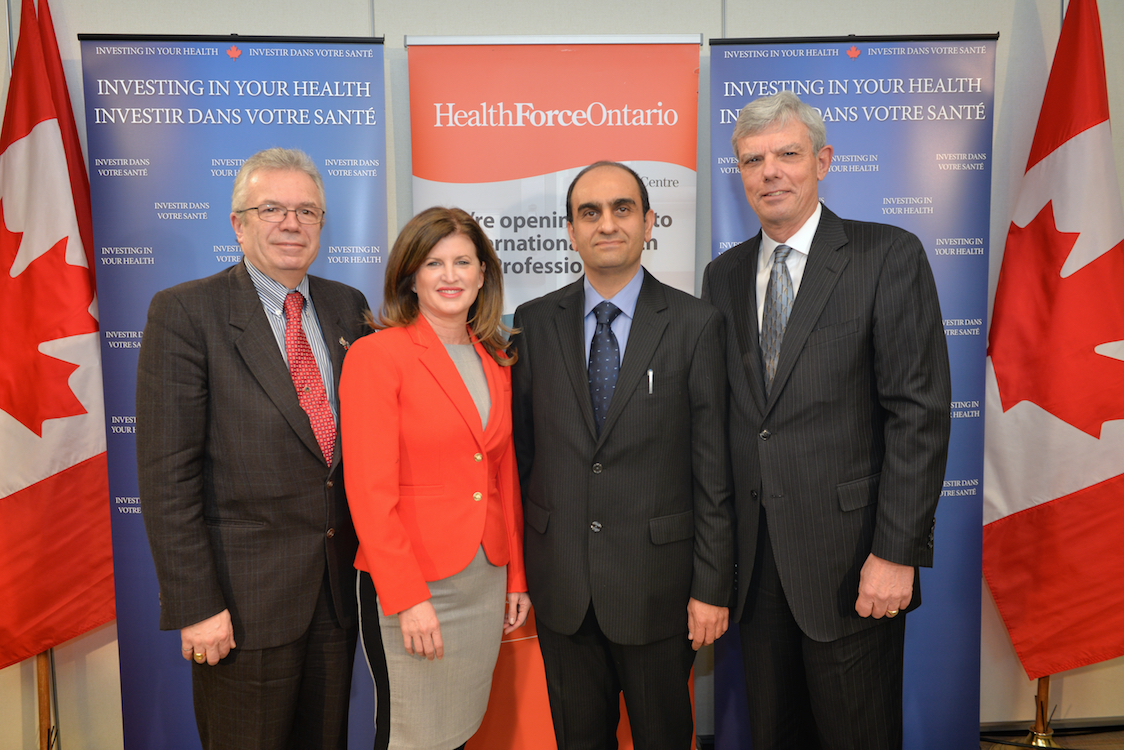 The Honourable Rona Ambrose, Minister of Health, is joined by special guests to announce the Government's investment to support internationally educated health professionals to practise in Canada.
