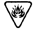 Figure 7.2 : Symbole Inflammable superposé au symbole Attention