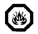 Figure 7.4 : Symbole Inflammable superposé au symbole Danger
