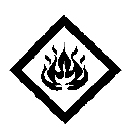 Figure 7.3 : Symbole Inflammable superposé au symbole Avertissement