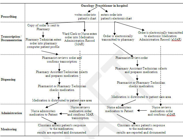 Figure 2: Sample Medication-Use Process Map for NAME Y®, intravenous antineoplastic