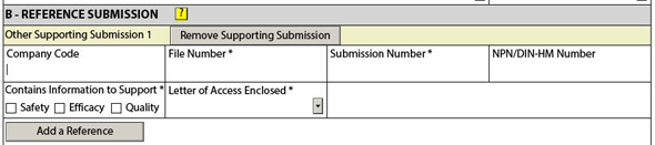 Figure 7: Reference submission information