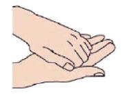 Frottez le bout des doigts