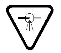 ATTENTION : RAYONNEMENT X - CAUTION: X-RADIATION symbole