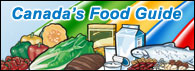 Canada's Food Guide banner 195 x 71 pixels