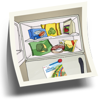 Food in freezer