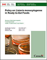 Poster of Policy on Listeria monocytogenes in Ready-to-Eat Foods (2011)