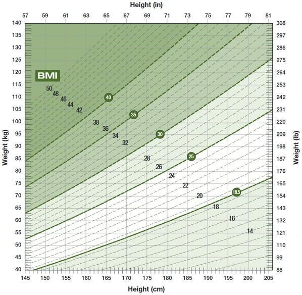 Body Mass Index Nomogram