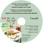 Canadian Community Health Survey, Cycle 2.2, Nutrition (2004) - Nutrient Intakes from Food: Provincial, Regional and National Summary Data Tables, Volume 1, 2 and 3