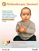 N'attendez-pas, Vaccinez! - First Nations English Print-Ad Cover
