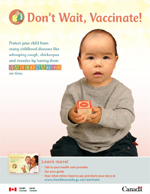 Don't Wait, Vaccinate! - First Nations English Print-Ad Cover