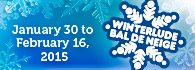 Winterlude from January 30 to February 16, 2015 (external link)