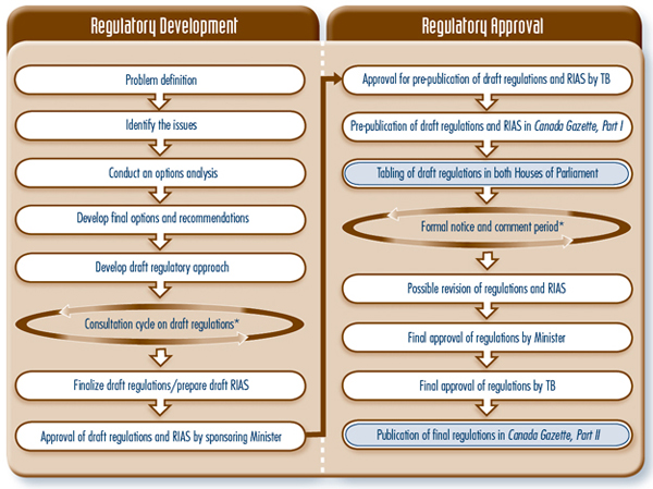 Figure 1: Steps in Developing and Approving Regulations